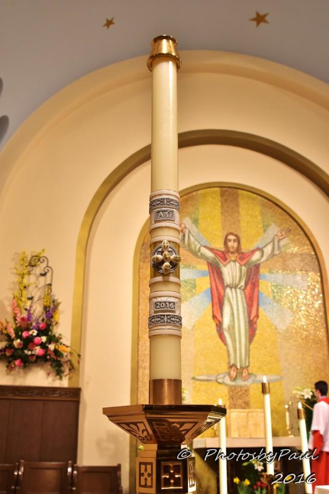 Paschal Candle Saint Clement Catholic Parish